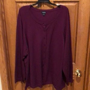 Torrid button front sweater.  Size 6X or 30.